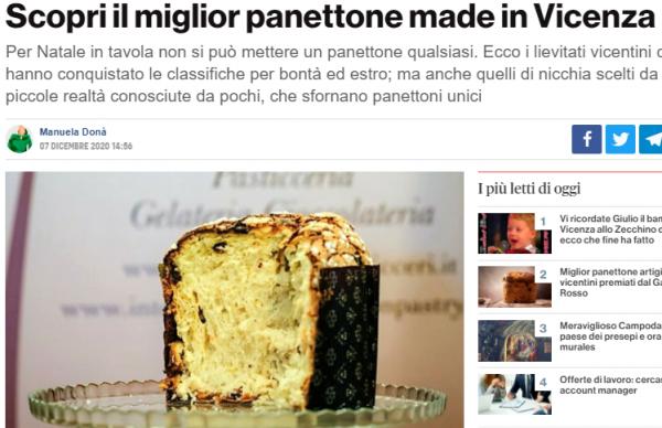 Panettone che passione: i più buoni di Vicenza
