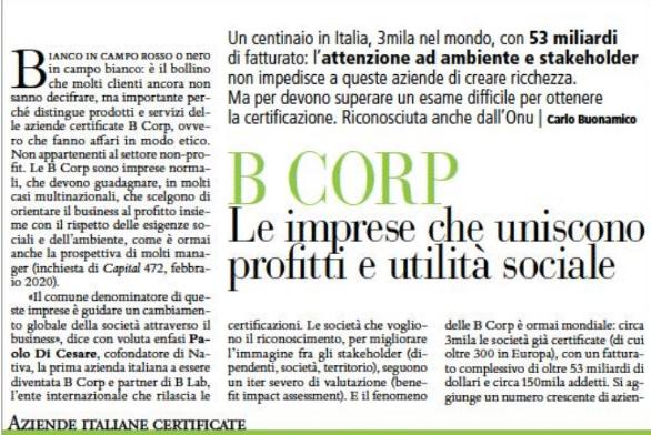 B Corp. Le imprese che uniscono profitti e utilità sociale