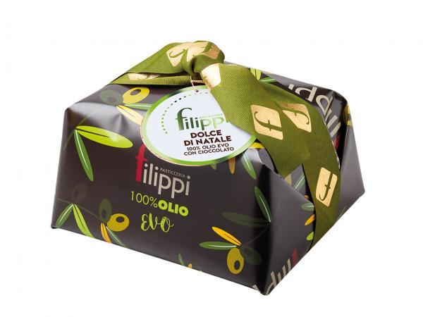 Dolce di Natale 100% olio EVO con cioccolato fondente