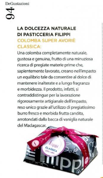 La nuova colomba Super Avoriè Classica: dolcezza naturale di Pasticceria Filippi